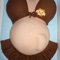 Pregnant Belly Cake Pregnant belly cake.