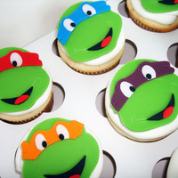 Teenage Mutant Ninja Turtle Cupcakes Teenage Mutant Ninja Turtle cupcakes.