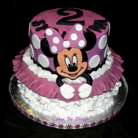 Minnie Mouse Themed Cake Minnie Mouse themed cake