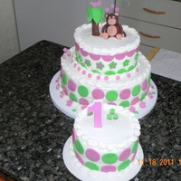 Monkey Themed Cake