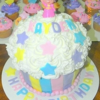 Dora Themed Giant Cupcake Cake
