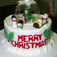 Christmas Snow Globe Cake Made just to make!
