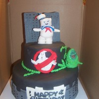 Ghostbusters Ghostbusters themed 6-10 inch cake, marshmallow fondant,