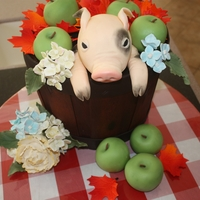 Piglet In A Barrell I saw a piglet on here and just had to figure out how I could put my own spin on it. I won first place at a Relay for Life cake challenge....