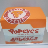 Popeyes Buttercream with a fondant 'lid' & edible images. :-)