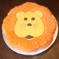 Lion Cake My son wanted a lion cake for his 3rd birthday. The face is melted chocolate in a heart pan, ears made with a round cookie cutter and then...