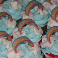 Rainbow Cupcakes I did these cupcakes to go with my daughter's rainbow cake after seeing the one's that Tmgarcia_98 did. They were a HUGE hit with...