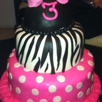 Minnie Mouse Cake Zebra Minnie Mouse Cake