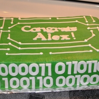 Computer Engineering Graduation   Graduation cake for computer engineer grad. Circuit board with class of 2012 written in binary code