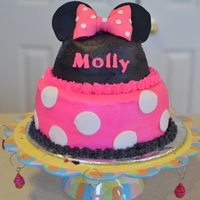 Minnie Mouse   Minnie mouse cake for my daughter's first birthday