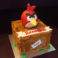 Angry Bird On Tnt Box