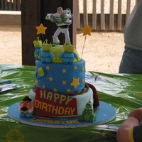 Toy Story Cake   MMF covered cake with MMF figure, except Buzz.