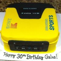 Walkman 30Th Birthday Cake Walkman 30th birthday cake