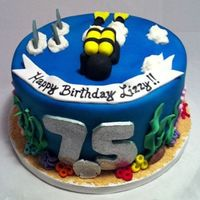 Scuba Diving 75Th Birthday Cake Scuba diving 75th birthday cake