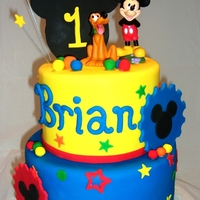 Mickey Mouse 1St Birthday Cake   Mickey Mouse 1st Birthday cake