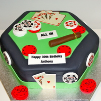 Poker Anyone 30th Birthday for a Poker Lover, thank you to Pink Hat Cake for inspiration..
