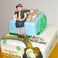 Irish Fisherman - New Zealand Heritage 2 Tier Mud Cake Fisherman. Born on St. Patricks day in New Zealand..