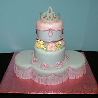 3 Tiered Princess/quinceanera Cake