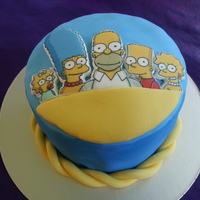Simpsons Family Cake Simpsons family cake