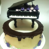 Piano Cake Tutorial for this piano was found on cake central by AnaRemigio. Cake was a rich chocolate cake with peanut butter buttercream topped with...