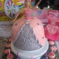 Barbie Princess Dress Cake   This was my 1st attempt at a barbie dress cake for my niece's 5th birthday