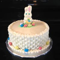 Chocolate Bunny And Buttercream Basket Weave Chocolate bunny and buttercream basket weave