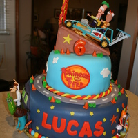 Phineas And Ferb Celebration  I made this cake for my son's 6th birthday party. He wanted a Phineas and Ferb theme for this year. The cake turned out great and it...
