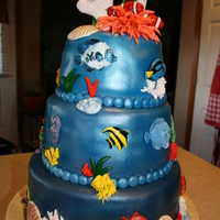 Aquarium Cake  I made this cake for a special friend who has an amazing tropical aquarium. Lots of detail in this cake...but when it was done I was very...