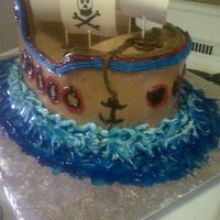 My 1St Pirate Cake this cake was very challenging but it turned out good. LOVE the details.