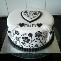 Mothers Day Painted Cake   Fruit cake, covered in fondant and hand painted. Fancied trying something new and classy :o)