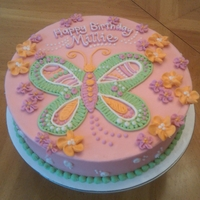 Butterfly Birthday A sweet little butterfly cake to match the party plates for little Millie's party.