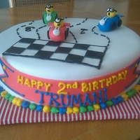 A Despicable Race This birthday boy loves car racing & the minions in Despicable Me. I thought he'd get a kick out of this cake!