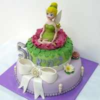 Tinkerbell My oldest granddaughter asked for a Tinkerbell cake. This one was for the childrens's party at home
