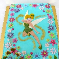Tinkerbell For Kindergarten Birthday Party.   My granddaughter wanted a Tinkerbell cake for her 5th birthday. This one was for the birthday party in kindergarten