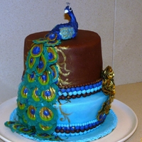 Peacock Cake For a long time I wanted to make a peacock cake, just because it such a beatiful and inspiring bird. I mad this cake for my husband's...