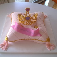 Princess Pillow Cake Sorry to bore with yet another pillow cake. But, this was a request from a friend who wanted a pillow cake with tiara for her daughter&#039...