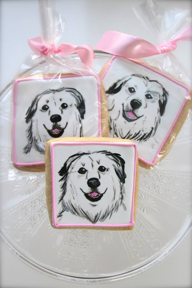 Great Pyrenees Cookies As Wedding Favors Great Pyrenees cookies as wedding favors