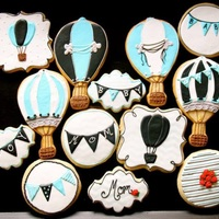 Up And Away Baby Shower Cookies Up and away baby shower cookies