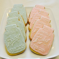 Mason Jar Baby Shower Cookies Mason jar baby shower cookies