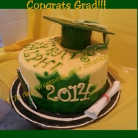 Class Of 2014 Graduation Cake For My Son All edible decorations with chocolate cake