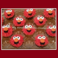 Elmo Cupcakes Elmo Cupcakes, chocolate and Yellow