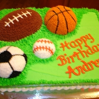 I Love Sports!   This cake is for the all around sports fan.