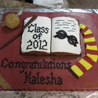 Harry Potter Fan   Harry Potter themed Gradutation cake for an avid fan.