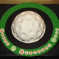 Golf Ball Birthday Birthday cake I made for my nephew, they were playing mini golf for the party and this is what my sister-in-law wanted. It's suposed...