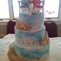 Coastal Wedding Cake *
