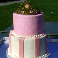 Pink Princess I only had a day to work on this cake, so I kept it pretty simple. But the birthday girl totally lit up when she saw it! The cake is...