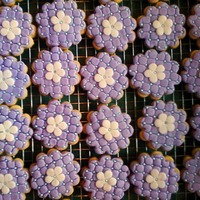 Baby Shower Cookies Cookie Favors to match baby's bedding. Flowers and butterflies.