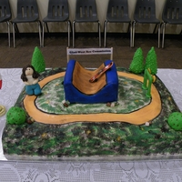 Wellness Trail/skateboard Park This cake was made for the grand opening in our town, for a wellness trail & skateboard park.