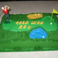 Golf Themed Retirement Cake Made for a coworker who retired. Freebie, so nothing special.