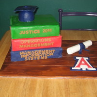 Stacked Books Graduation Cake I made this for my son's graduation from the University of Arizona. I ordered Sharon Zambito's DVD and it was a HUGE help!